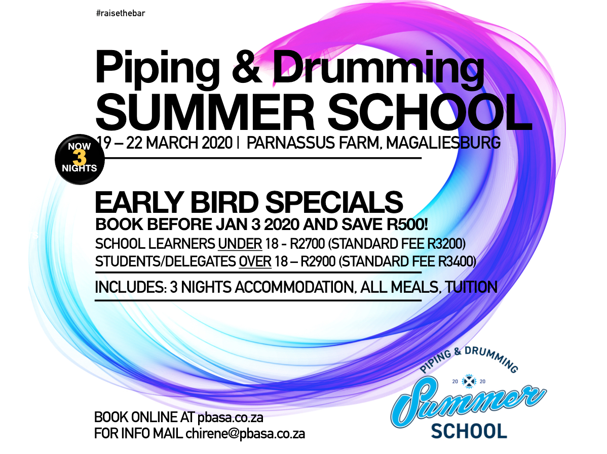 Piping and Drumming Summer School